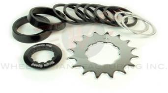 Wheels Manufacturing Single Speed Conversion Kit angewinkelt 适用于 Shiamno/SRAM black anodized