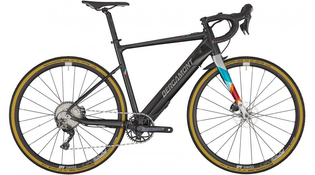 "Bergamont E-Grandurance Elite 28"" E-Bike Gravel bici completa tamaño 53 cm negro/negro/plata (color apagado/shiny) Mod. 2020"