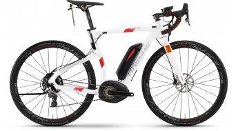 Haibike XDURO Race S 6.0 28 Rennrad S-Pedelec Komplettrad Gr. 62cm weiß/rot Bosch Performance Speed-Antrieb Mod. 2017