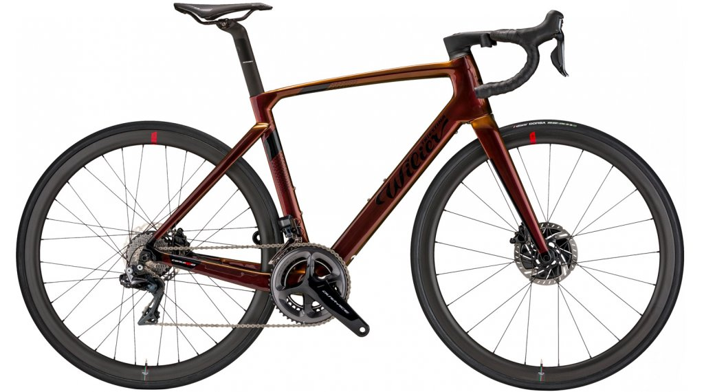 Wilier Cento10 Hybrid 28 E-Bike bici carretera bici completa Shimano Dura Ace Di2 / Wilier Air38KC tamaño S iride bronze glossy Mod. 2021