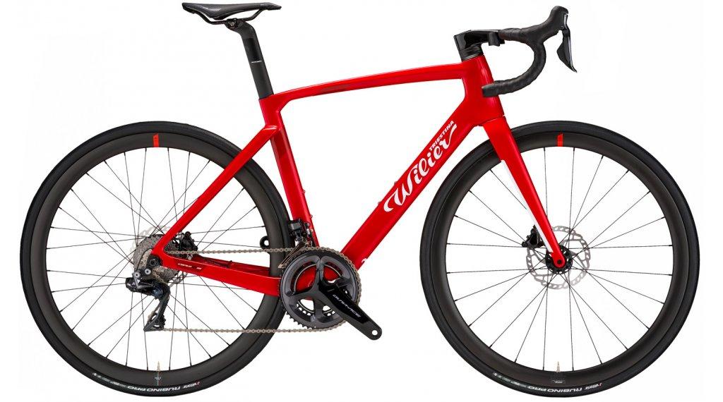 Wilier Cento10 Hybrid 28 E-Bike bici carretera bici completa Shimano Dura Ace Di2 / Wilier Air38KC tamaño S rojo glossy Mod. 2021