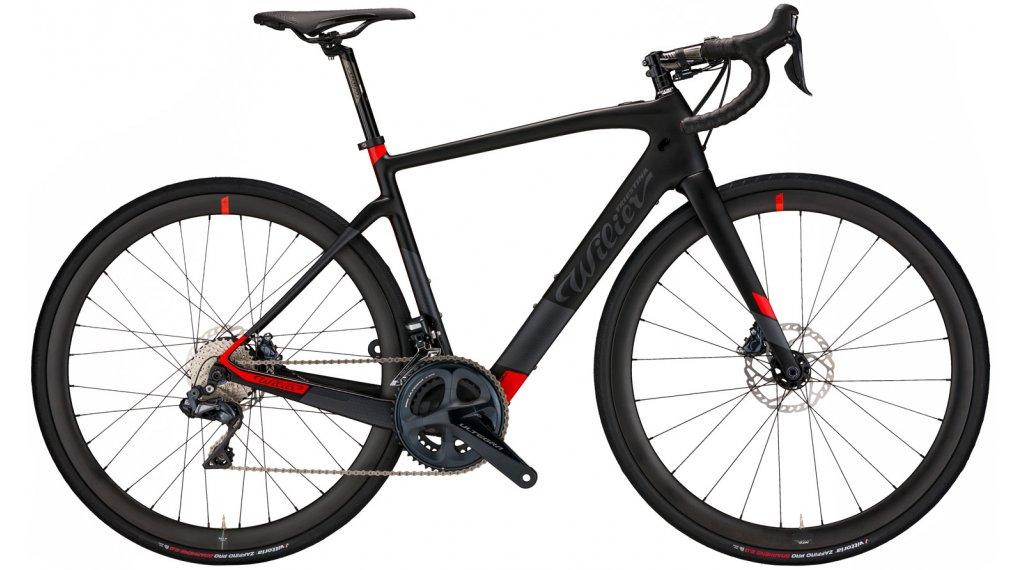Wilier Cento1 Hybrid 28 E-Bike bici carretera bici completa Shimano Ultegra Di2 / Wilier NDR30AC tamaño XS negro/rojo color apagado Mod. 2021