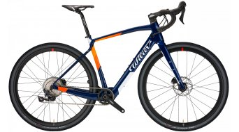 Wilier Jena Hybrid 28 E-Bike Gravel Komplettrad Shimano GRX 1x11 / Wilier Air38KC Gr. S blue/orange glossy Mod. 2021