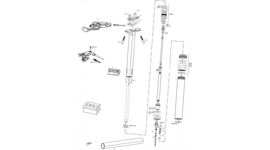 RockShox Service-Kit für Reverb 200 Stunden / 1 Jahr für Reverb B1 / Reverb Stealth B1