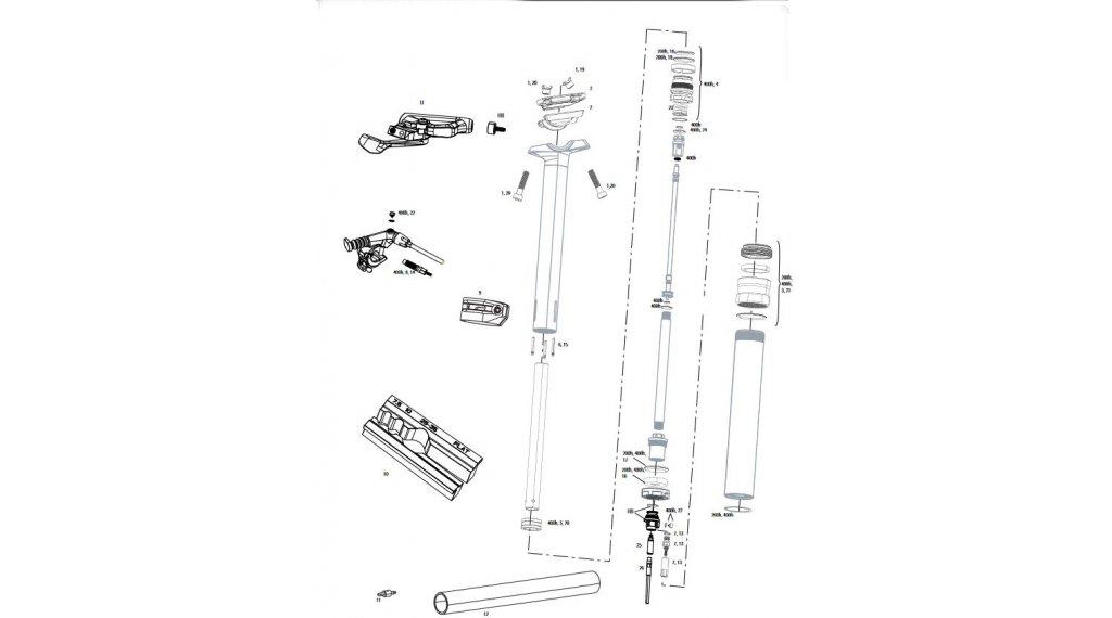 RockShox Service-Kit für Reverb 400 Stunden / 2 Jahre für Reverb Stealth B1