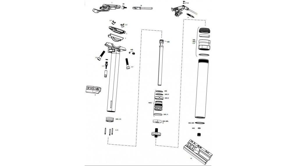 RockShox Service-Kit für Reverb 400 Stunden / 2 Jahre für Reverb B1