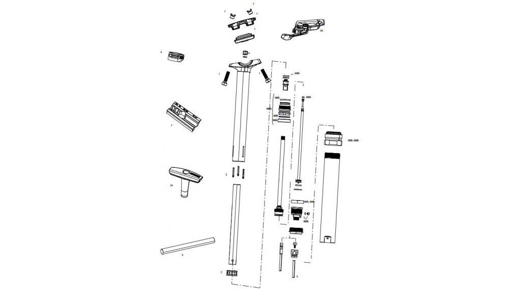 RockShox Service-Kit für Reverb 200 Stunden / 1 Jahr für Reverb Stealth C1