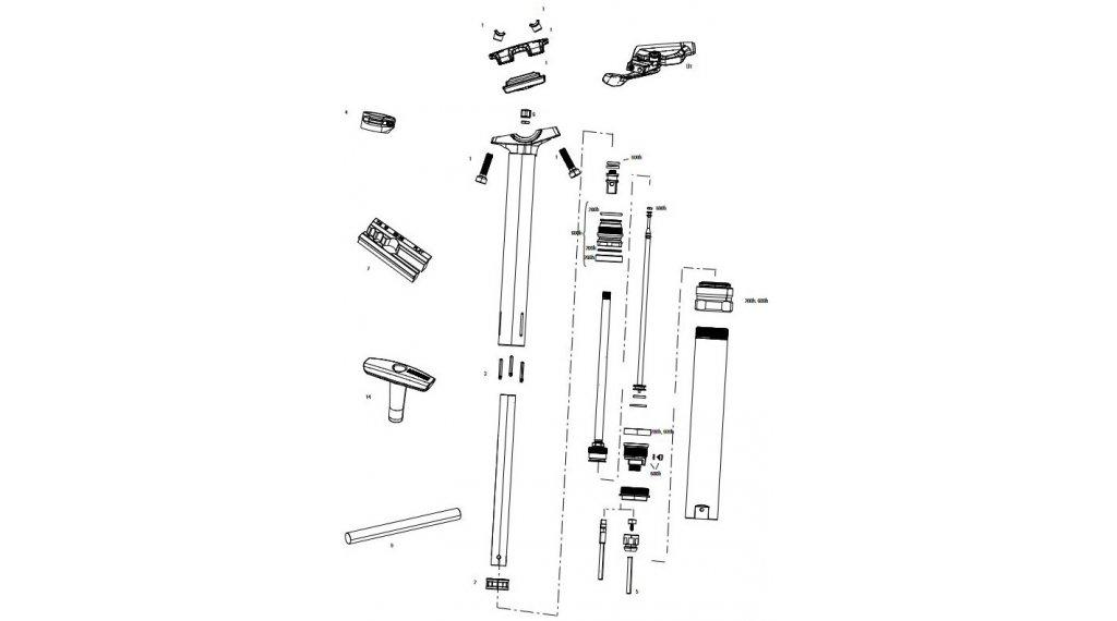 RockShox Service-Kit für Reverb 600 Stunden / 3 Jahre für Reverb Stealth C1