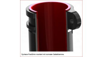 Syntace Post Shim Sattelstützen-Distanzhülse 34.9mm auf 30.9mm black Aluminium