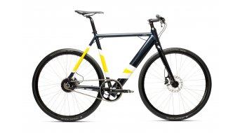"""Coboc ONE Berlin 28"""" E-Bike Komplettrad falken blau/gelbe Akzente/hochglanz inkl. Riemen Umrüst-Kit Mod. 2019"""