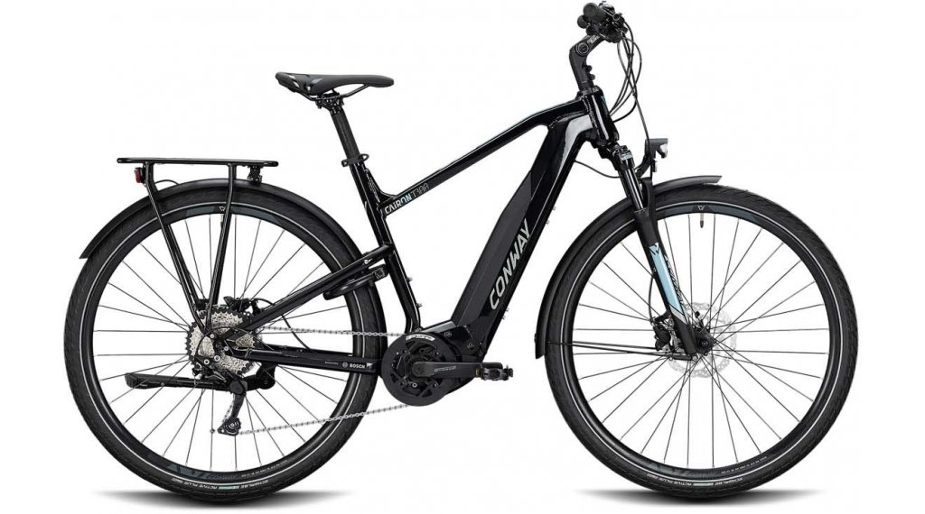 "Conway Cairon T 300 28"" E-Bike Trekking Komplettrad Gr. M black /lightblue Mod. 2020"