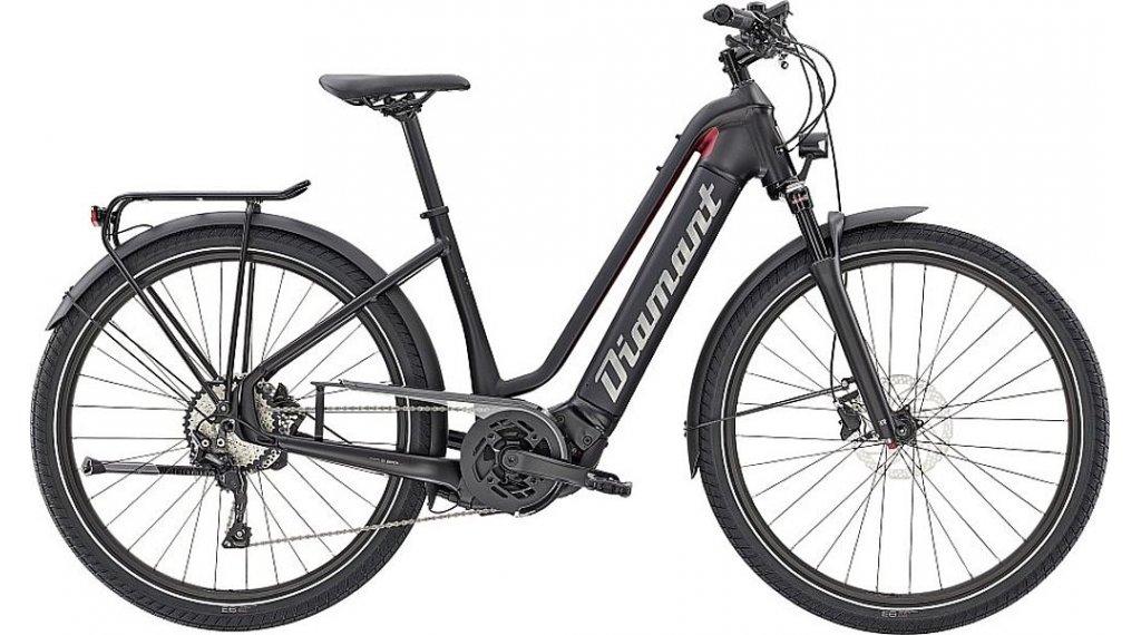 "Diamant Zouma Deluxe+ TIE 27.5"" E-Bike City/Urban Komplettrad Gr. L tiefschwarz/rhodonit metallic Mod. 2021"