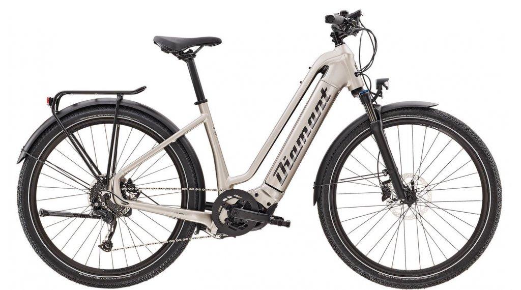 "Diamant Zouma+ TIE 27.5"" E-Bike City/Urban Komplettrad Gr. L iridiumsilber metallic Mod. 2021"
