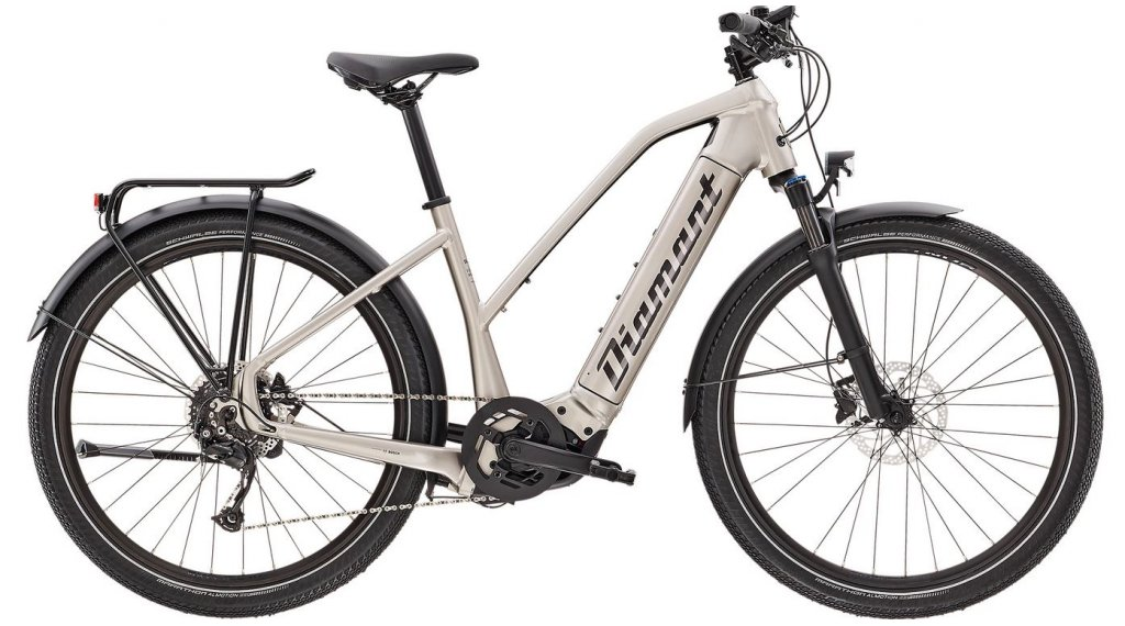 "Diamant Zouma+ TRA 27.5"" E-Bike City/Urban Komplettrad Gr. L iridiumsilber metallic Mod. 2021"