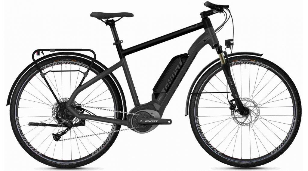 "Ghost Hybride Square Trekking B1.8 AL U 28"" E-Bike 整车 型号 S titanium gray/jet black/iridium silver 款型 2020"