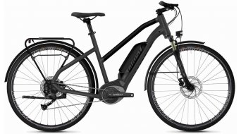 "Ghost Hybride Square trekking B1.8 AL W 28"" e-bike fiets dames titanium gray/jet black/iridium silver model 2020"