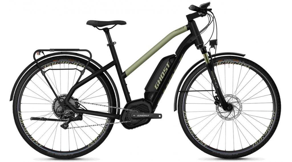 "Ghost Hybride Square Trekking B5.8 AL W 28"" E-Bike Komplettrad Damen Gr. XS jet black/ext gold Mod. 2020"