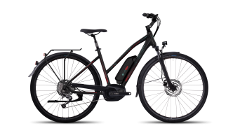 Ghost Andasol trekking 5 AL e-bike fiets damesfiets maat XS black/jade blue/neon red model 2017