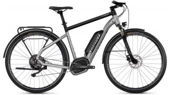 "Ghost Hybride Square trekking B2.8 AL en 28"" e-bike fiets iridium silver/jet black model 2019"
