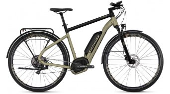 "Ghost Hybride Square trekking B5.8 AL en 28"" e-bike fiets ext goud/jet black model 2019"