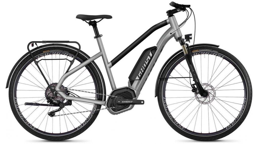 "Ghost Hybride Square Trekking B2.8 AL W 28"" E-Bike 整车 女士 型号 M iridium silver/jet black 款型 2019"