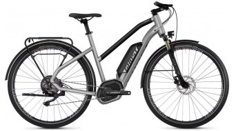 "Ghost Hybride Square trekking B2.8 AL W 28"" e-bike fiets dames iridium silver/jet black model 2019"