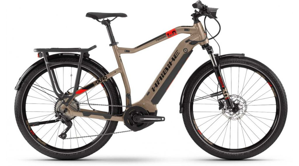 "Haibike SDURO Trekking 4.0 27.5"" E-Bike Komplettrad Herrren Gr. M sand/schwarz/rot Mod. 2020"