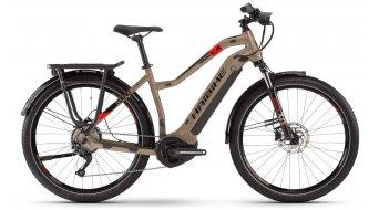 """Haibike SDURO Trekking 4.0 27.5"""" E-Bike Komplettrad Damen Gr. S sand/schwarz/rot Mod. 2020"""