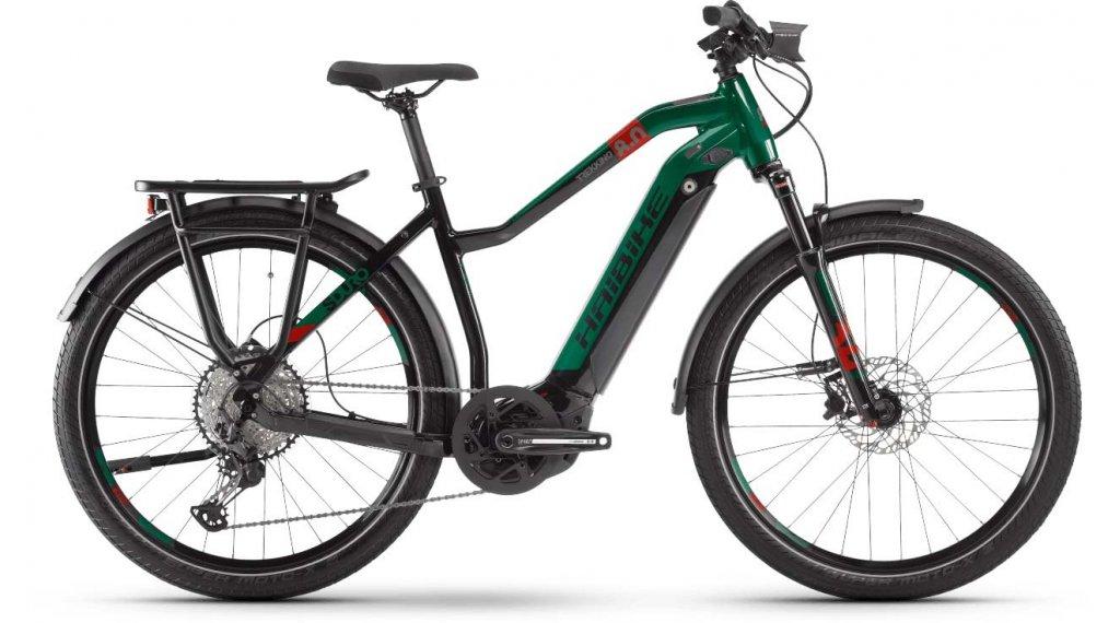 """Haibike SDURO trekking 8.0 27.5"""" E-Bike bici completa da donna mis. L nero/rosso/kingston mod. 2020"""