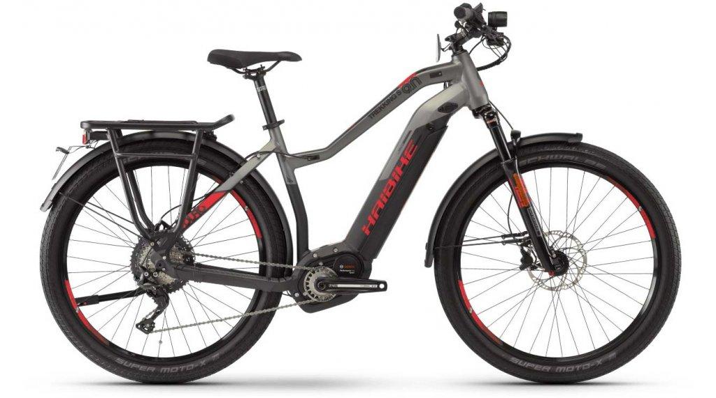 """Haibike SDURO Trekking S 9.0 27.5"""" E-Bike Komplettrad Damen Gr. S schwarz/titan/rot matt Mod. 2020"""