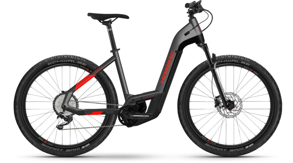 Haibike Trekking Cross 9 Lowstep 27.5 E-Bike Trekking Komplettrad Gr. S anthracite/red Mod. 2021
