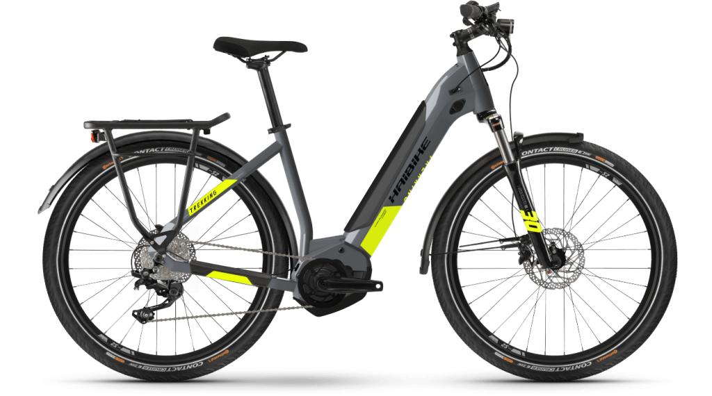 Haibike Trekking 6 Lowstep 27.5 E-Bike Trekking bici completa tamaño L cool gris/rojo Mod. 2021