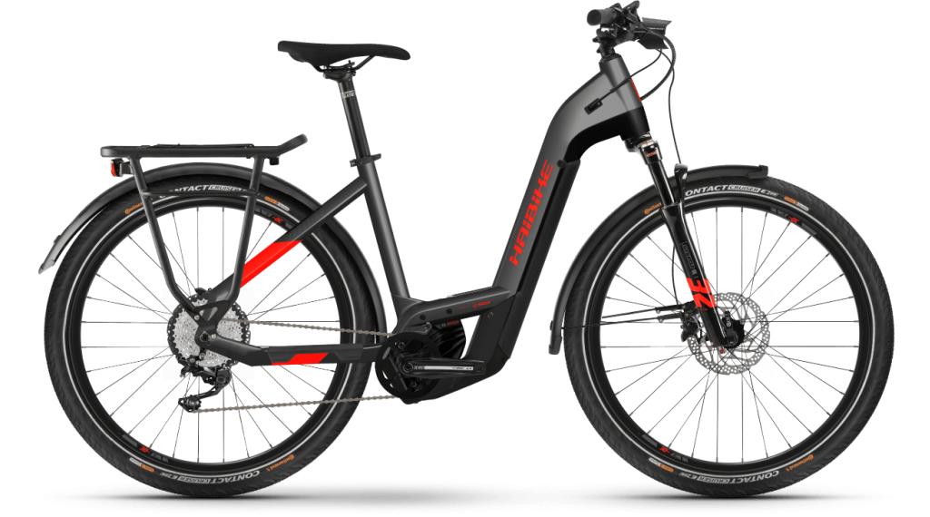 Haibike Trekking 9 Lowstep 27.5 E-Bike Trekking bici completa tamaño S anthracite/rojo Mod. 2021