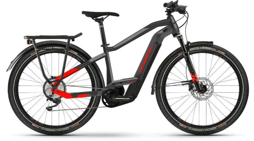 Haibike Trekking 9 27.5 E-Bike Trekking Komplettrad Gr. S anthracite/red Mod. 2021