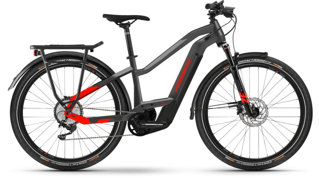 Haibike Trekking 9 Lowstandover 27.5 E-Bike Trekking Komplettrad Gr. XS anthracite/red Mod. 2021