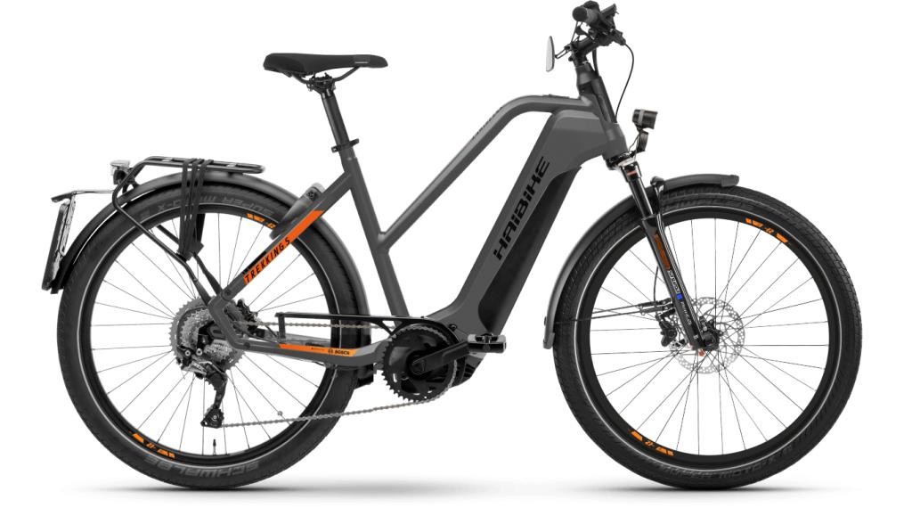 Haibike Trekking S 10 Lowstandover 27.5 E-Bike Trekking Komplettrad Gr. M titan/lava matte Mod. 2021
