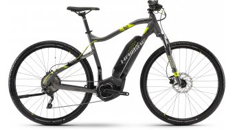 "Hai bike SDURO Cross 4.0 400Wh 28"" MTB E- bike bike anthracite/black/lime 2018"