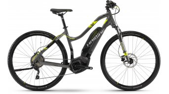 "Hai bike SDURO Cross 4.0 400Wh 28"" MTB E- bike ladies bike anthracite/black/lime 2018"