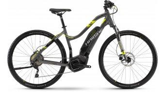 """Haibike SDURO Cross 4.0 400Wh 28"""" MTB E-Bike Damen Komplettrad anthrazit/schwarz/lime Mod. 2018"""