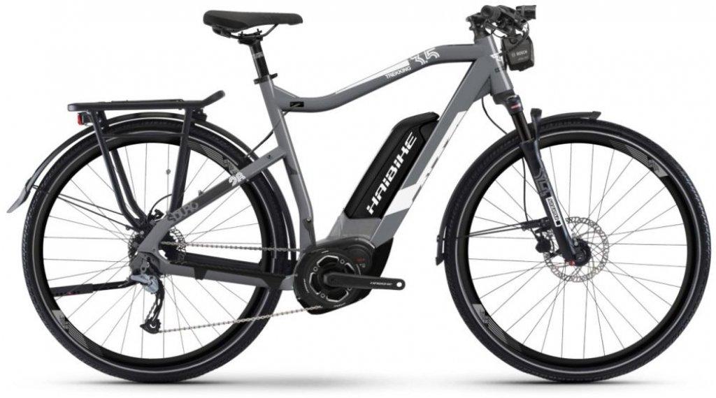 "Haibike SDURO Trek 3.5 500Wh 28"" E-Bike Komplettrad Gr. S grau/weiß/schwarz matt Mod. 2019"