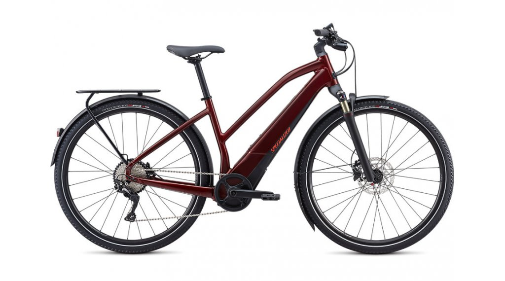 "Specialized Turbo Vado 4.0 Step-Through 28"" E-Bike Komplettrad Damen Gr. S metallic crimson/black/rocket red Mod. 2020"