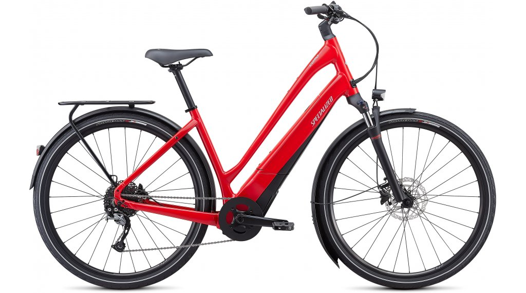 Specialized Turbo Como 3.0 Low-Entry 700C 28 E-Bike City Komplettrad Gr. S flo red w/blue ghost pearl/black/chrome Mod. 2021