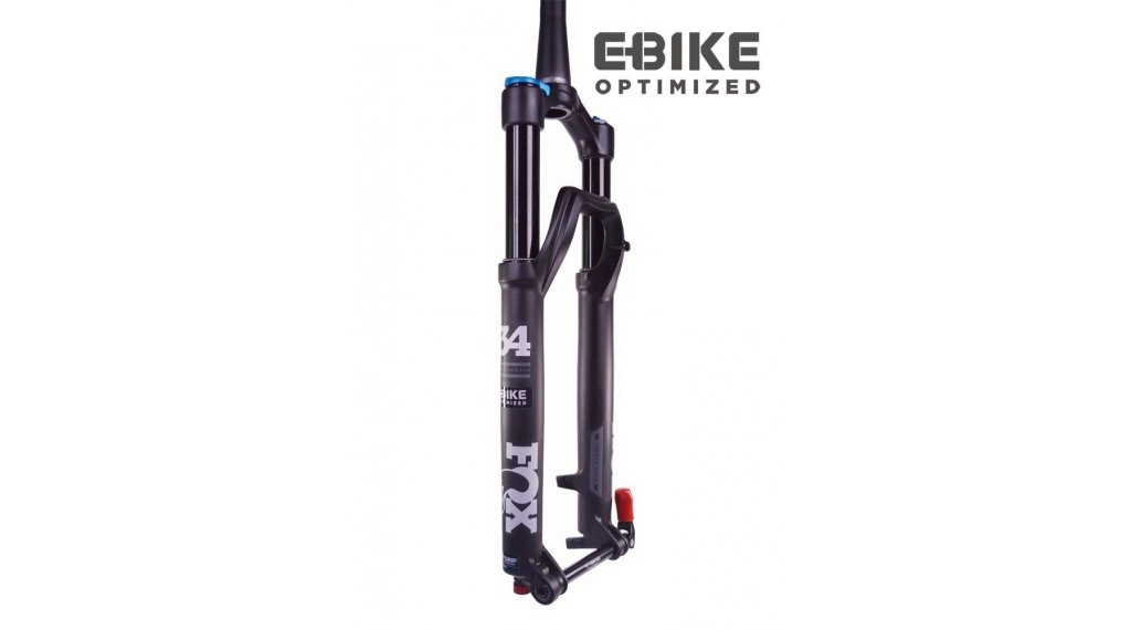 "Fox 34 Float Grip 3 Pos Performance Serie 27.5"" E-Bike Federgabel 120mm 1.5 Tapered 15QRx110 Boost 44mm Offset matte black std/matte black Logo Mod. 2020"