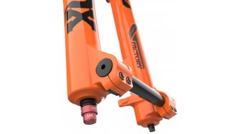 "Fox 40 Float Grip 2 HSC LSC HSR LSR Factory Serie 27.5"" Federgabel 203mm 1 1/8 Flat 20TAx110mm 48mm Offset shiny orange black/clear Logo Mod. 2021"