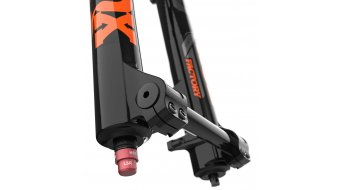 "Fox 40 Float Grip 2 HSC LSC HSR LSR Factory Serie 27.5"" Federgabel 203mm 1 1/8 Flat 20TAx110mm 48mm Offset shiny black orange/gloss black Logo Mod. 2021"