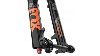 "Fox 38 Float Grip 2 HSC LSC HSR LSR Factory Serie 29"" Federgabel 160mm 1.5 Tapered 15QRx110mm 44mm Offset shiny black orange/gloss black Logo Mod. 2021"