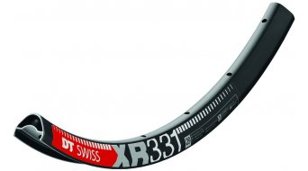 DT Swiss XR 331 26 Disc MTB felni furatos fekete inkl. DT Squorx Pro Head küllőanya + Unterlegscheiben
