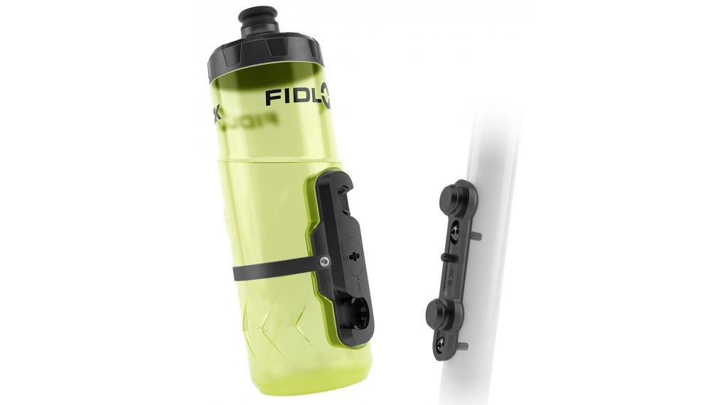 Fidlock Bottle Twist Trinklflasche mit Base und Connector 600ml transparent/yellow