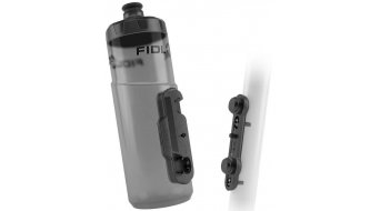Fidlock Twist Logo bidón para beber incl. Bike Base 600ml transparente/negro