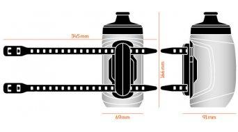 Fidlock Twist Logo Trinkflasche inkl. Uni Base 450ml transparent/black